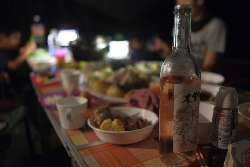 キャンプの夕飯