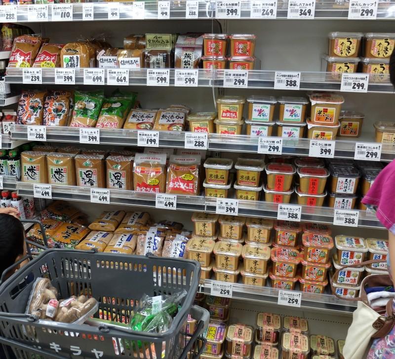 長野県のスーパー|みそコーナー