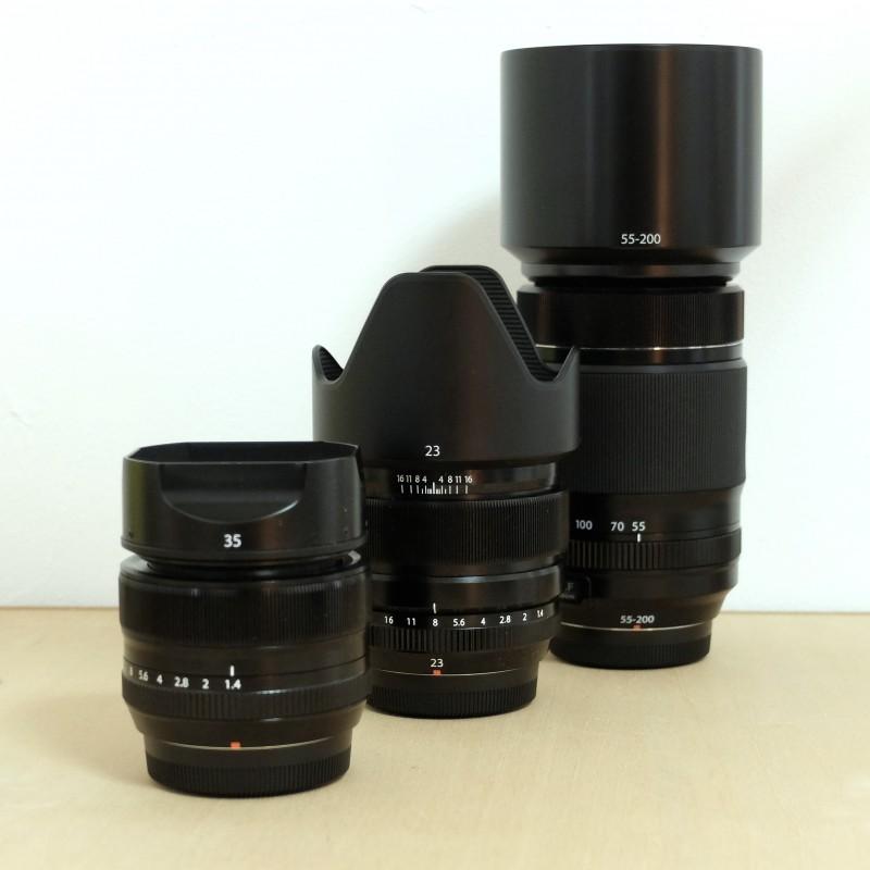XF23mm & XF35mm & XF55-200mm