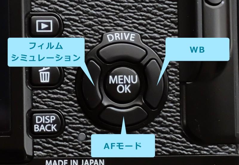 X-Pro2|デフォルトのFnボタン設定