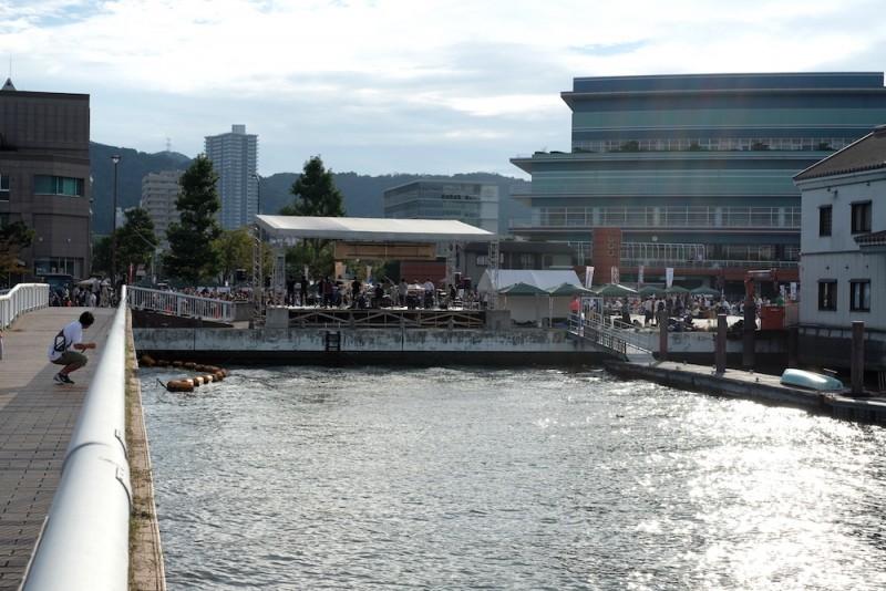 大津ジャズフェスティバル|桟橋から見たステージ