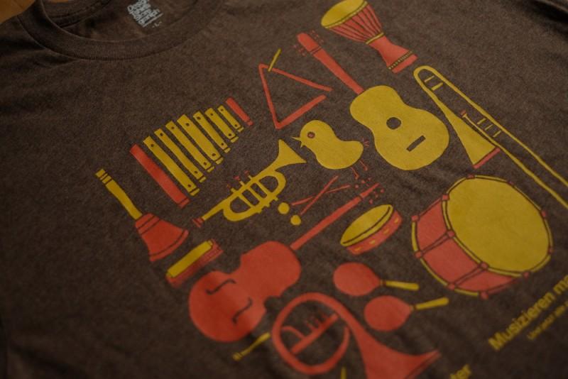 granigh(グラニフ)|ひよこと楽器のTシャツ