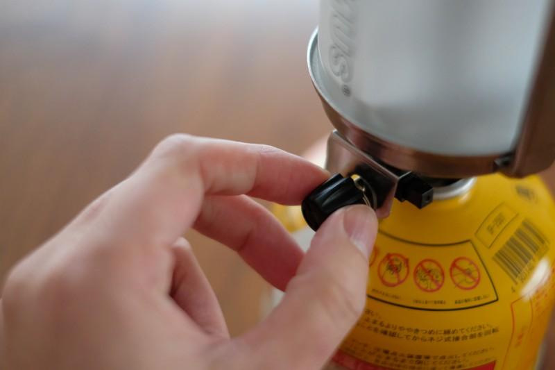 PRIMUS 535マイマーランタン|器具栓つまみと点火ボタン