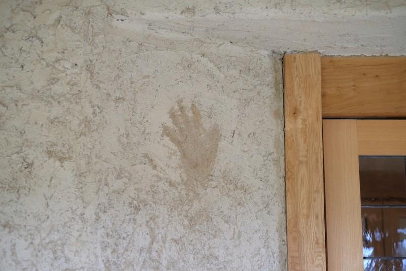 ラコリーナ近江八幡|漆喰の壁と社長手形