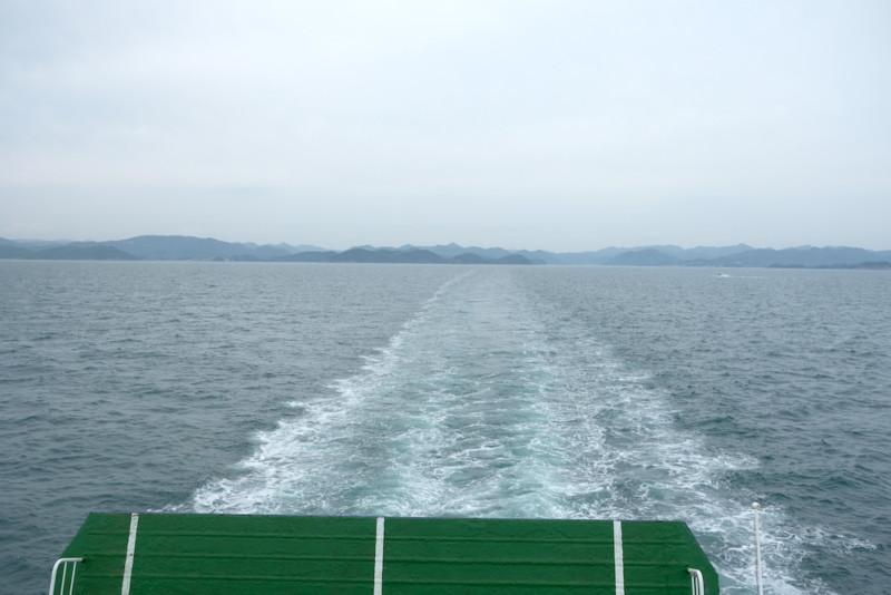 小豆島に向かうフェリー