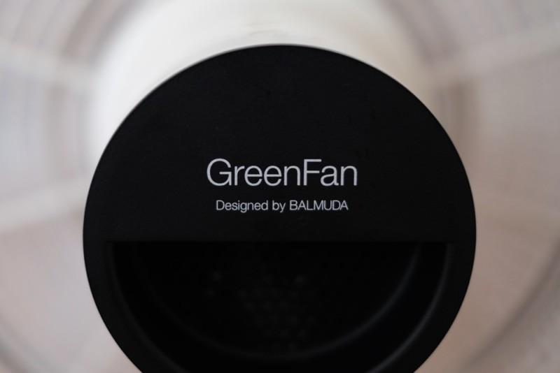 GreenFan(バルミューダ)|背面ロゴ