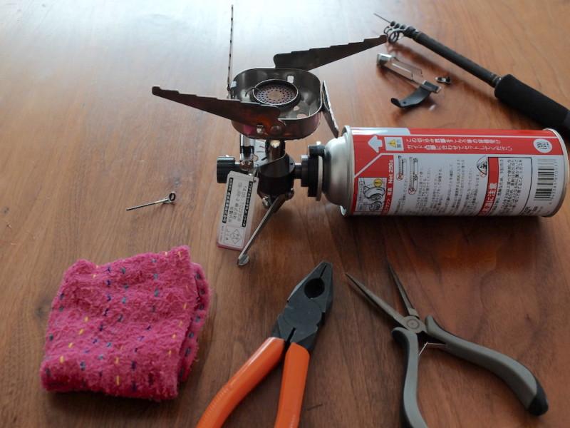 穂先の修理に必要な道具