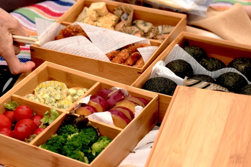 【天然竹製】七寸三段重(みよし漆器本舗)|運動会のお弁当