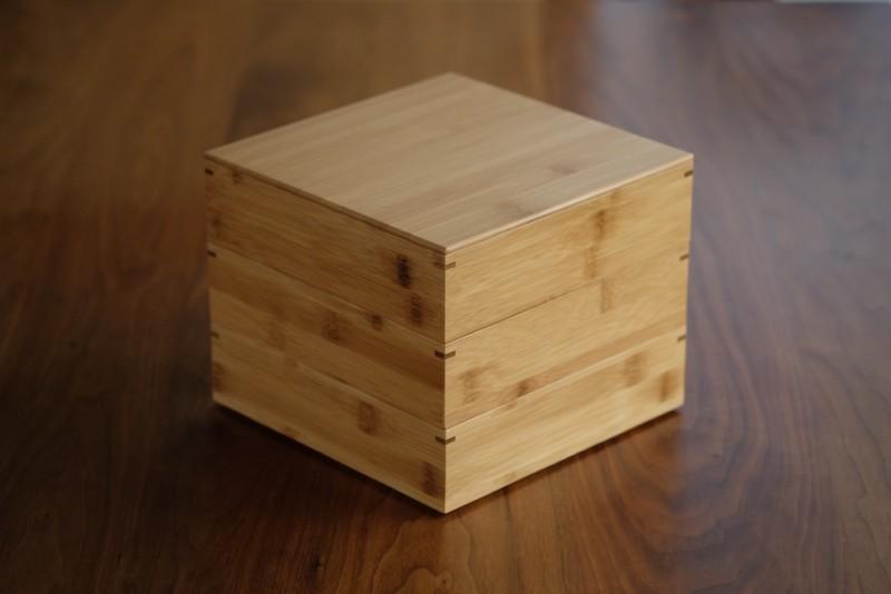 【天然竹製】七寸三段重(みよし漆器本舗)|