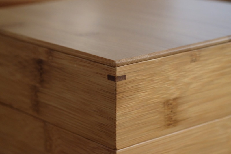 【天然竹製】七寸三段重(みよし漆器本舗)|木組み