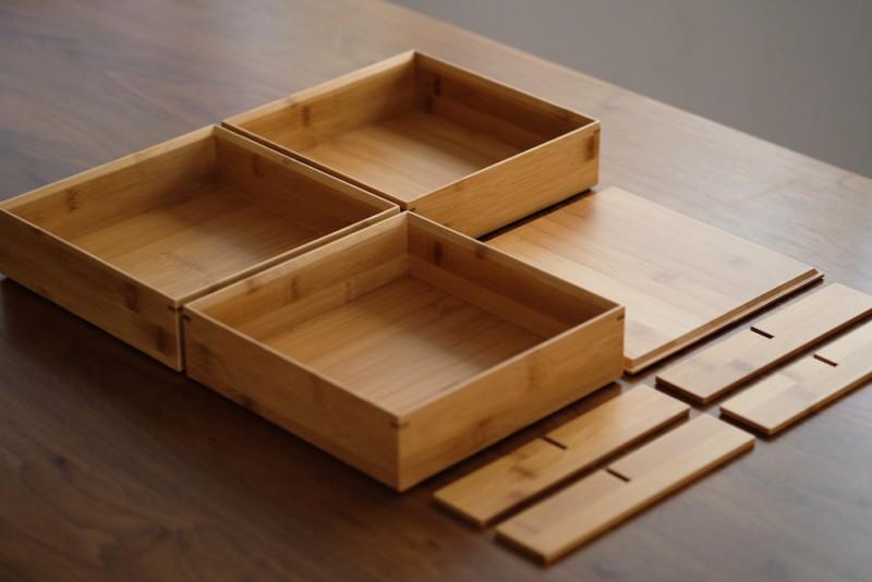 【天然竹製】七寸三段重(みよし漆器本舗)|セット内容