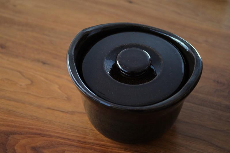 土釜おこげ 3合炊き(無印良品)|斜め上から