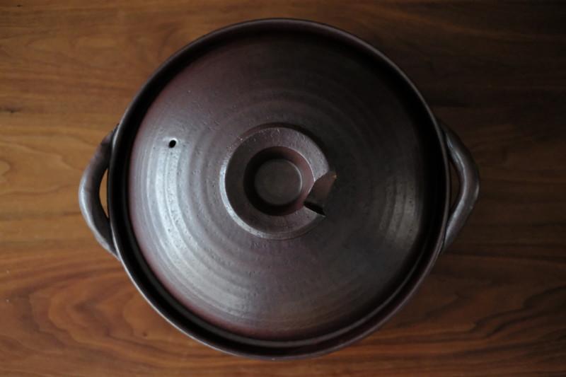 黒釉あかつち土鍋(萬古焼)|