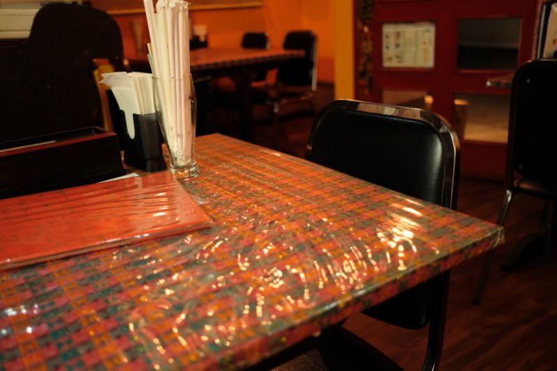 タージマハルエベレスト瀬田店のテーブル