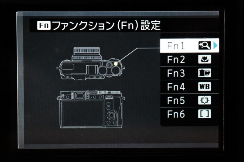 X308FUJIFILM)|Fnボタン割り当て