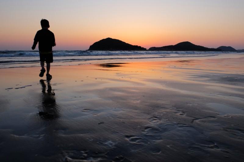 父母ヶ浜|グラデーションの綺麗な夕焼け