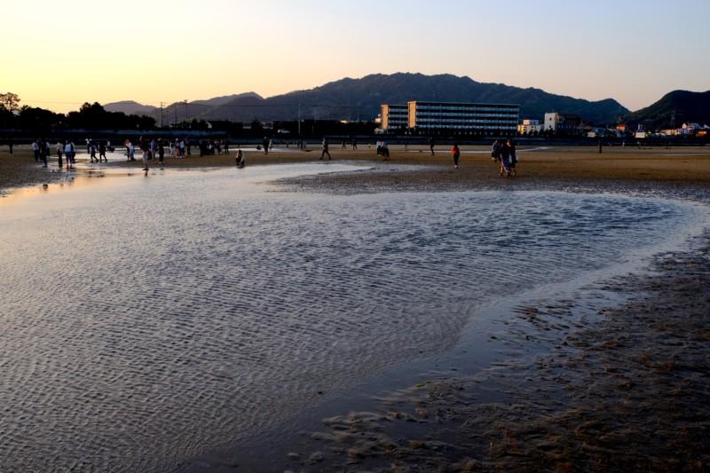 父母ヶ浜|強風で乱れる潮だまり