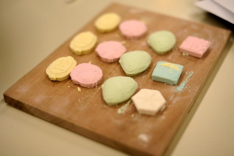 和三盆の干菓子作り体験(にしきや)|完成!