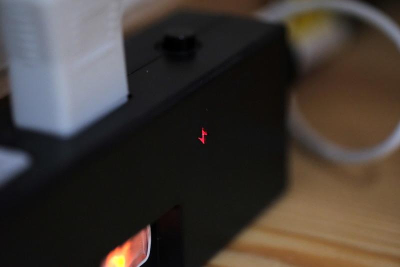雷ガード付き節電タップ(YAZAWA)|雷マークのランプ