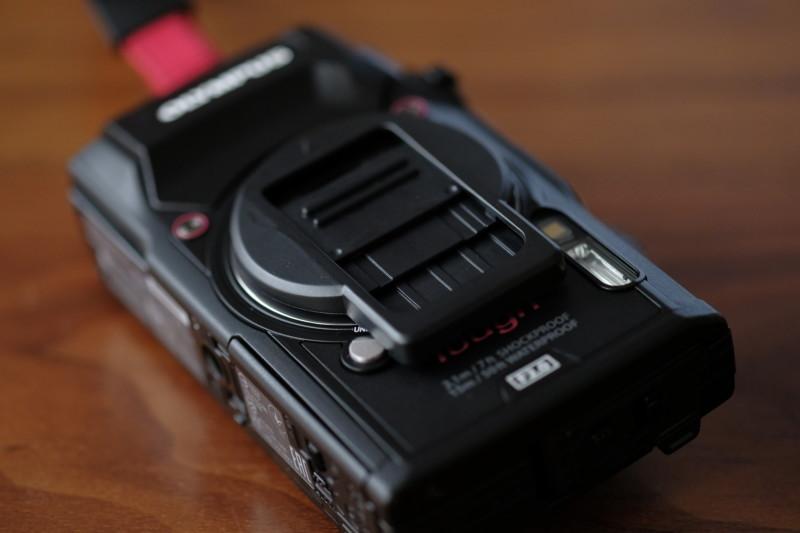 TG-5用UN製レンズプロテクトキャップ|スライド式