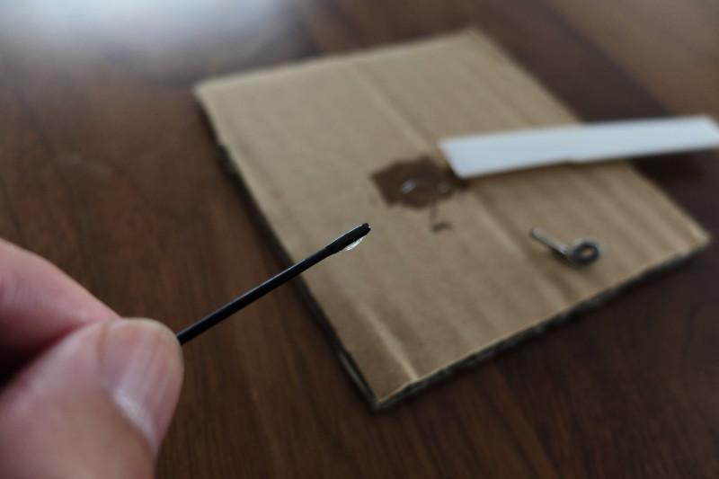 エポキシ接着剤(ダイソー)|穂先に塗布