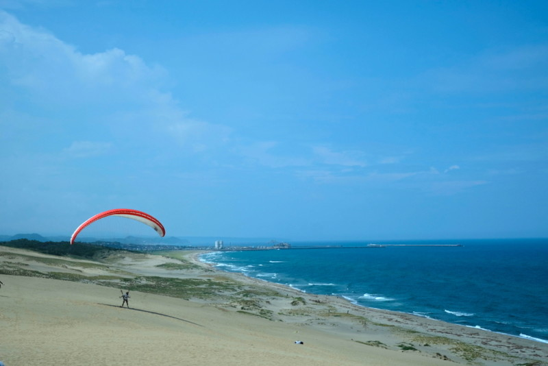 鳥取砂丘|パラグライダー
