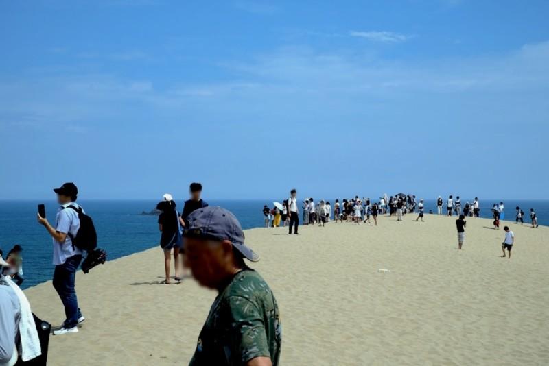 鳥取砂丘|馬の背の頂上