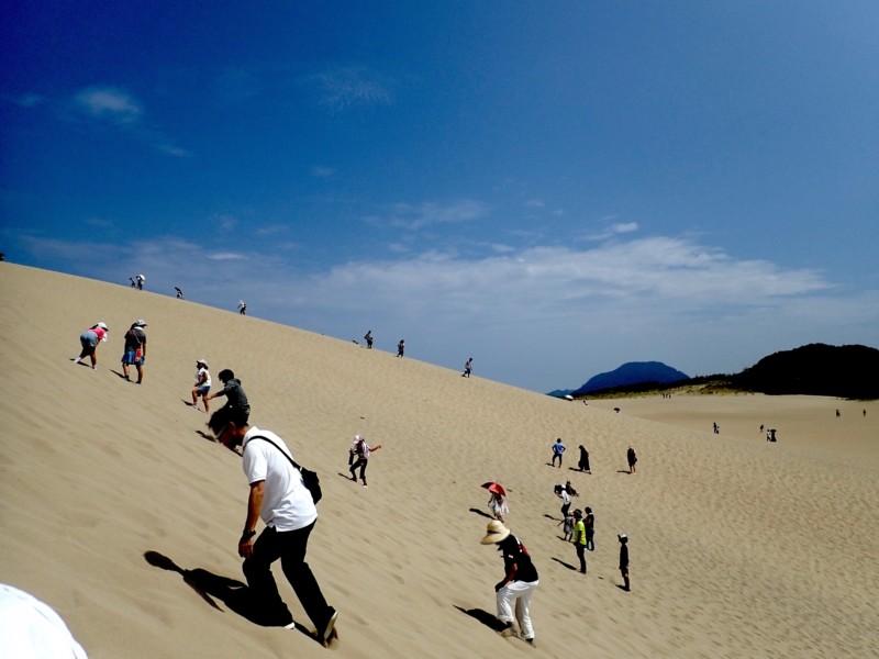 鳥取砂丘の上り坂