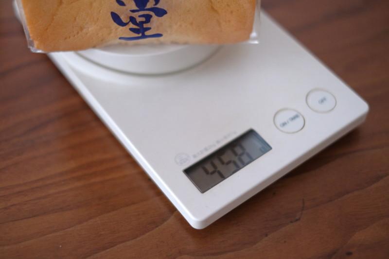 「乃が美(のがみ)」vs「一本堂」|一本堂の食パンの重さ
