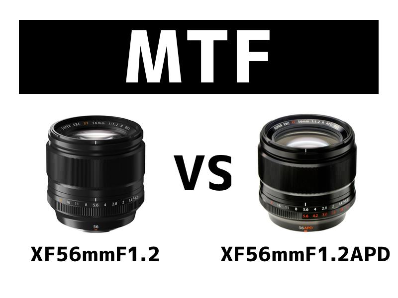 XF56mmF1.2とXF56mmF1.2APD|MTF曲線の比較