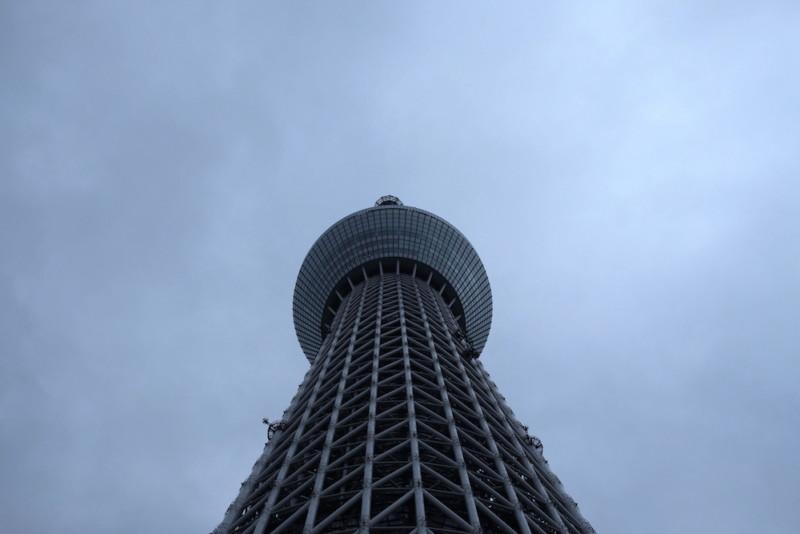 東京スカイツリーを見上げた
