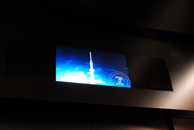 東京スカイツリー|エレベーターの中のモニター
