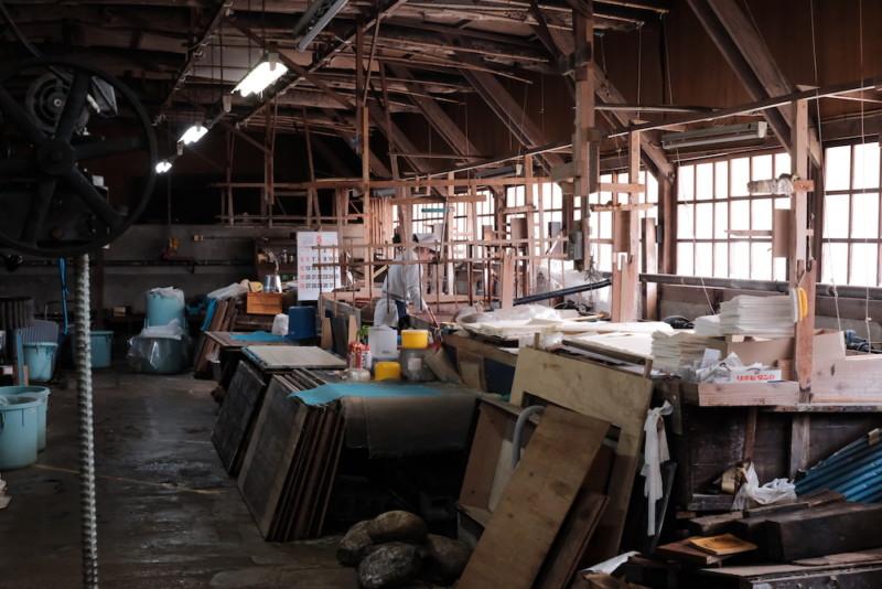 天神産紙工場|工場内部