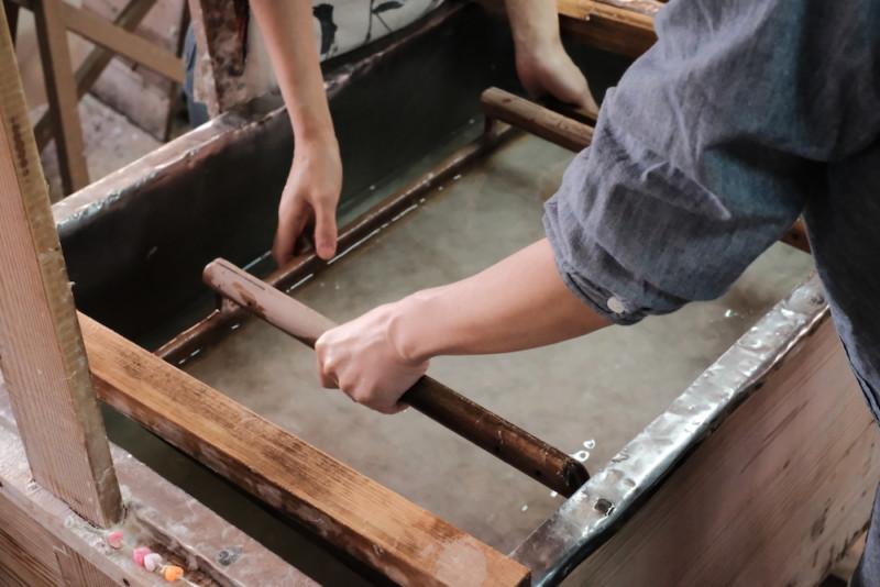 天神産紙工場|紙すき体験