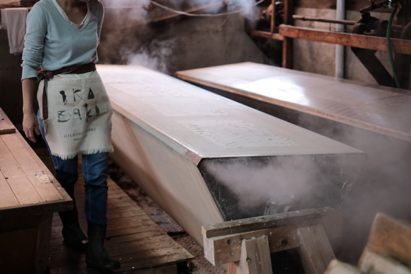 天神産紙工場|乾燥
