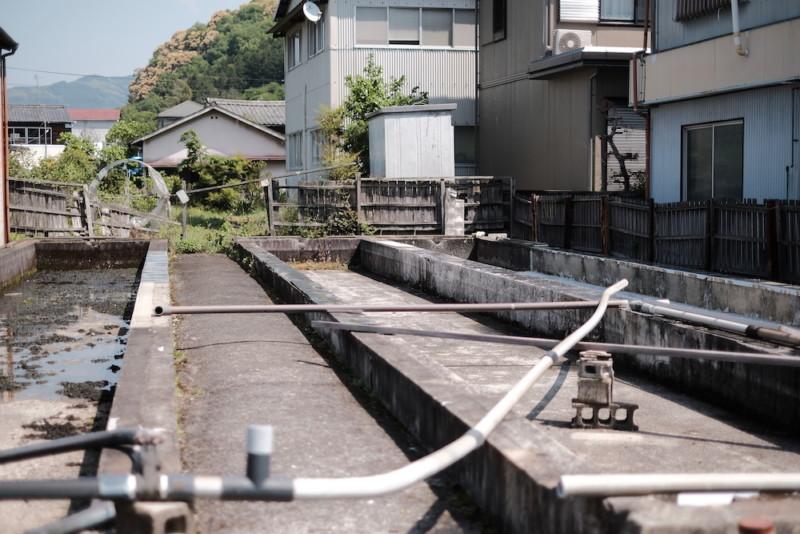天神産紙工場|和紙の原料を水洗いする施設