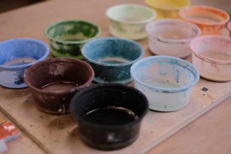 農村工芸体験館(砥部町)|着色用塗料
