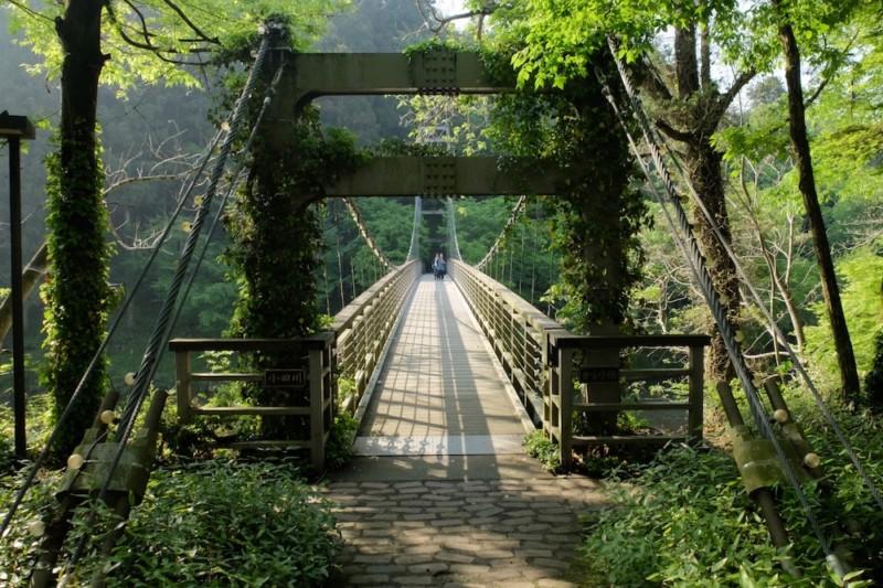 知清キャンプ場(愛媛県内子町)|吊り橋