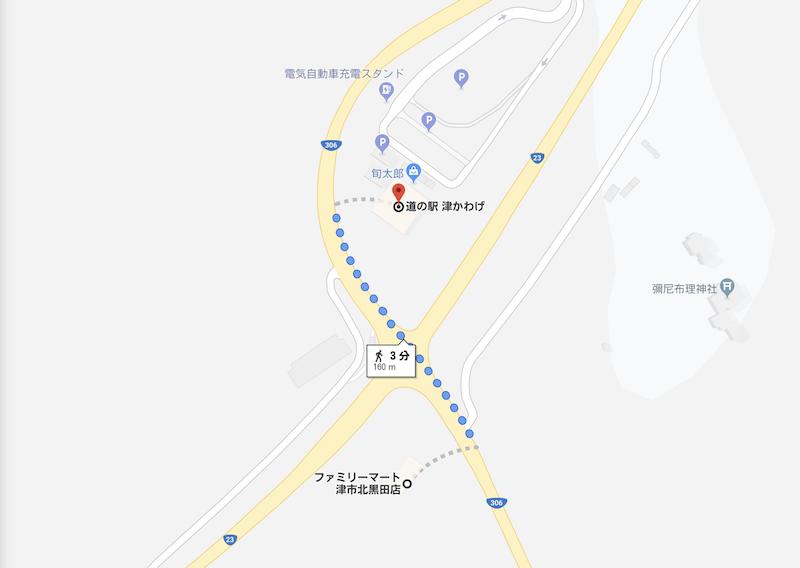 道の駅津かわげ|付近の地図
