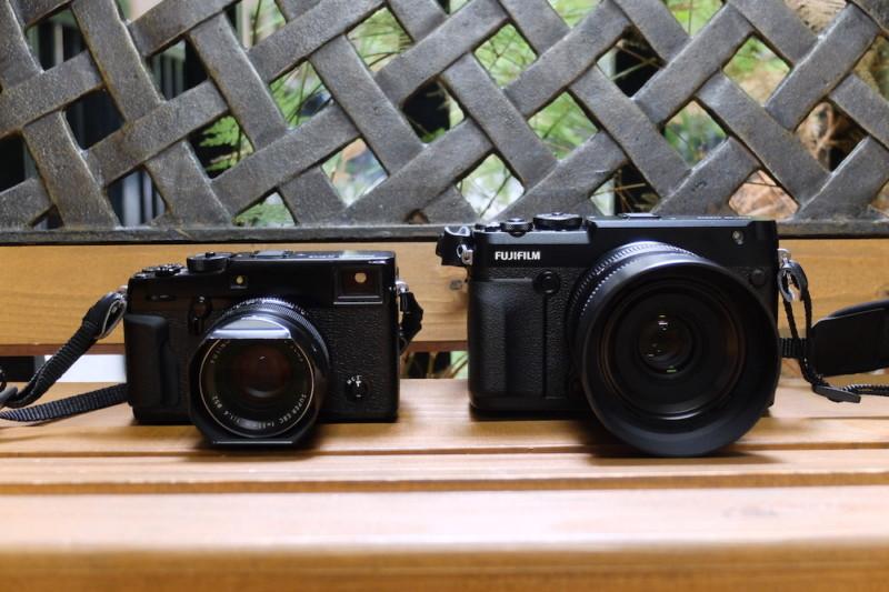 GFX50RとGF63mmF2.8|X-Pro2との大きさ比較