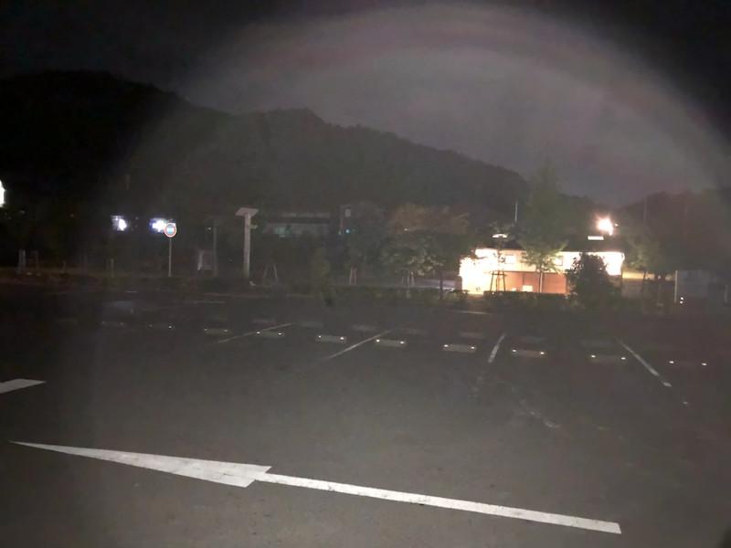 道の駅 愛彩ランド(大阪・岸和田)|夜間の駐車場