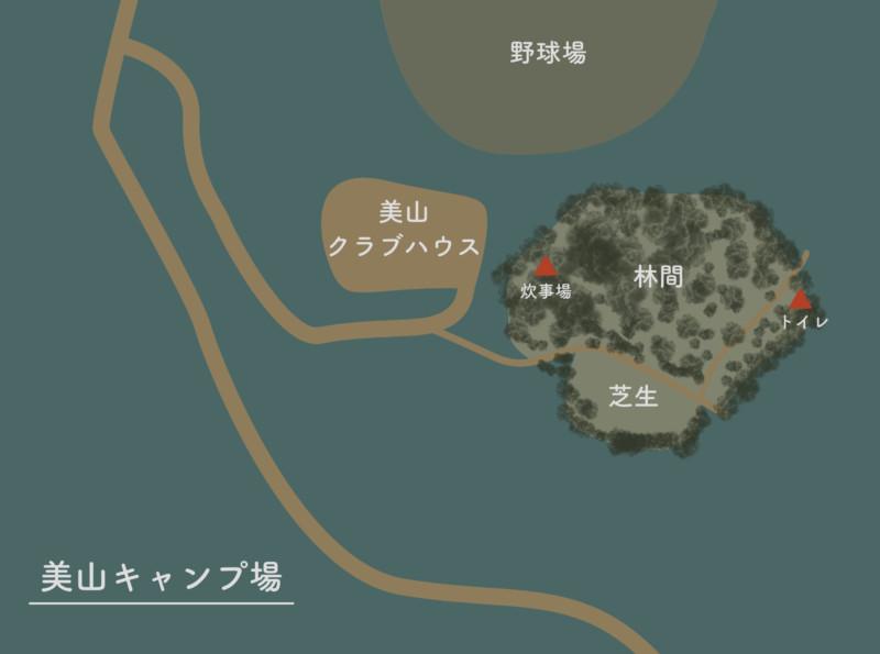 美山公園キャンプ場(新潟・糸魚川市)|概略図