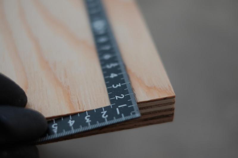 構造用合板1枚で作るiMac用デスク|直角