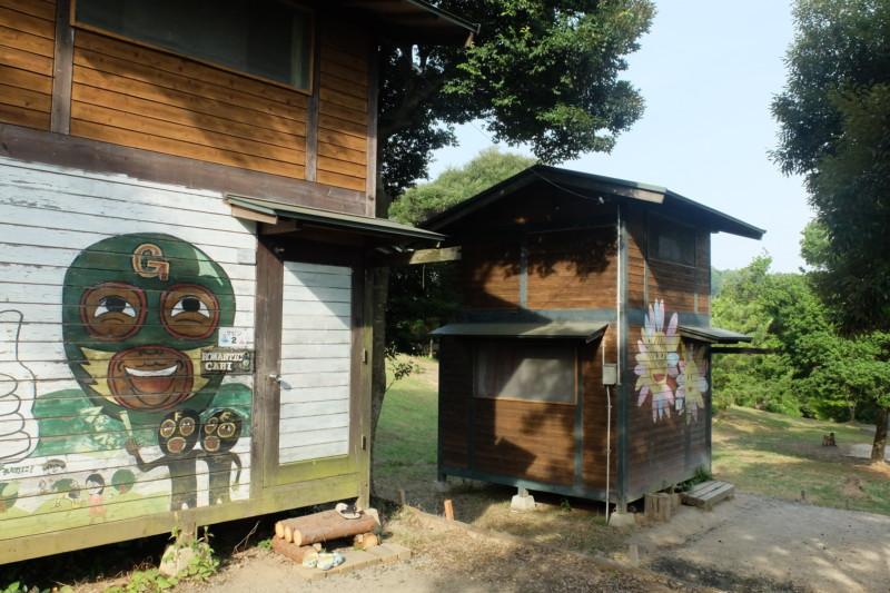 松江市宍道ふるさと森林公園(島根)|ケビンの外観