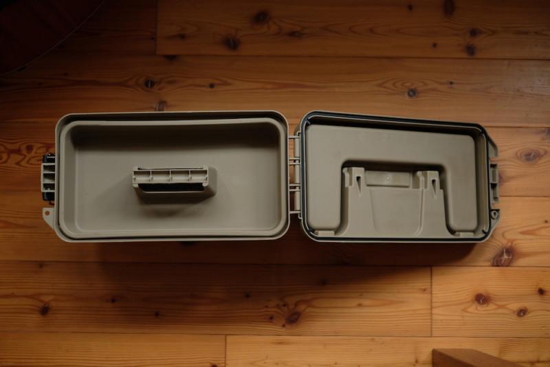 モールディングアーモツールボックス(BRID)|蓋を開けた