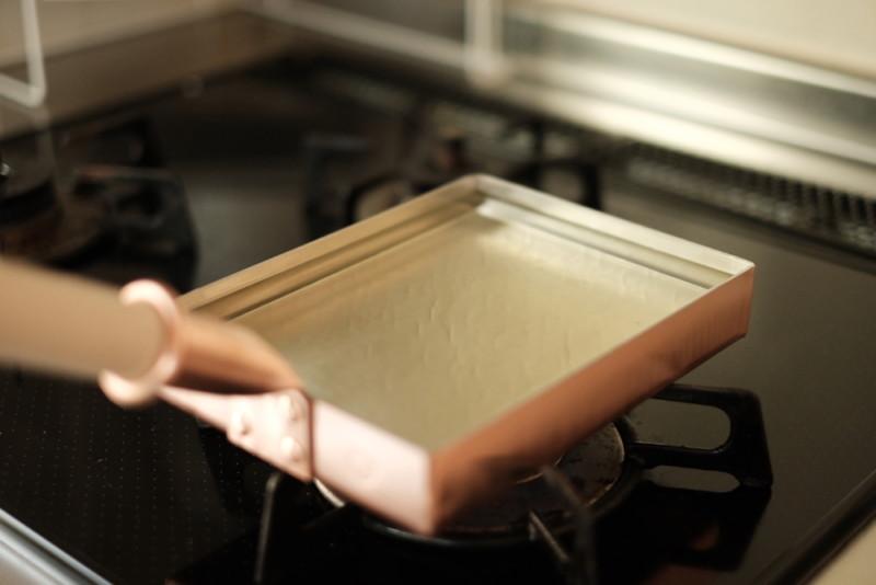 銅製卵焼き器(中村銅器製作所)|油慣らし