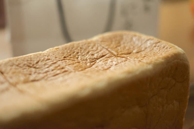 「銀座 に志かわ」の高級食パン|表面の状態