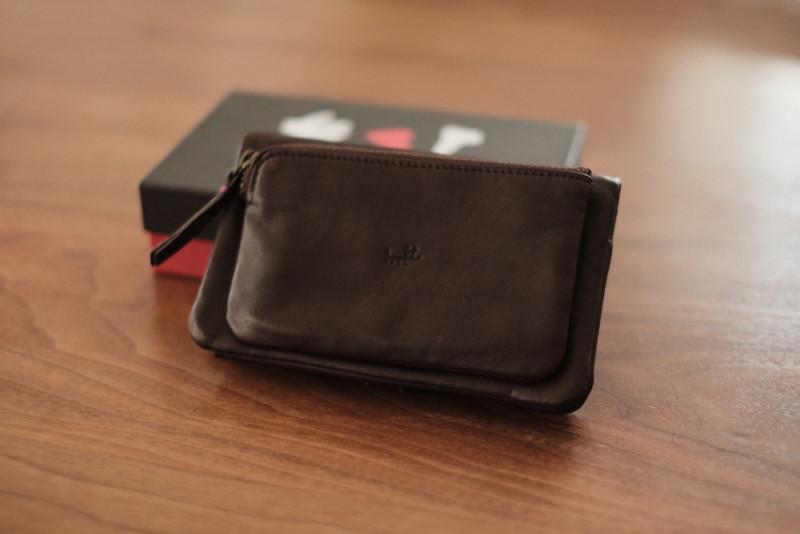 ソフトレザー二つ折り財布(CAMPER)|外観