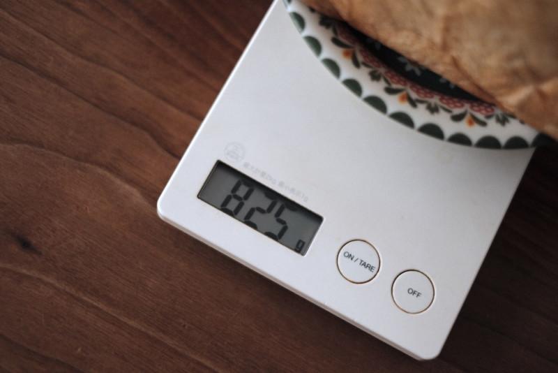 「Bakery 暦(滋賀・信楽)」の食パン|重さ