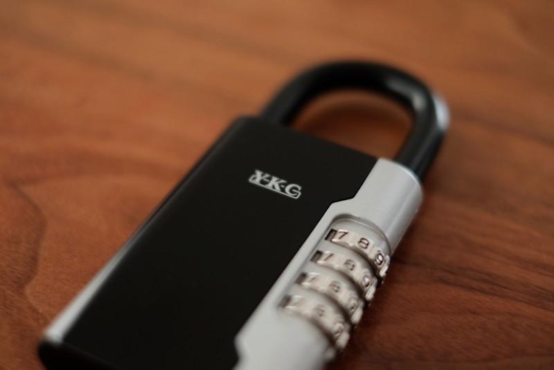 南京錠型キーボックス(暗証番号式)「ロックポケット LP-600(吉野金属)」|YKCロゴ